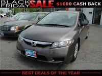 2010 Honda Civic LX Sedan 5-Speed AT, $43/Week OR $187/Month