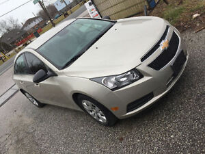 Mint Condition 2013 Chevrolet Cruze Sedan Gold Certified & Etest