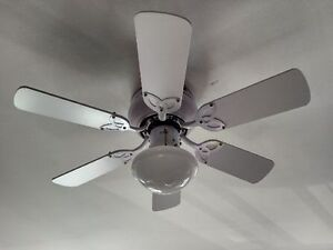 """Perfect Condition - 42"""" white fan with light &reversible blades"""