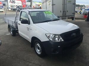 2011 Toyota Hilux TGN16R MY11 Upgrade Workmate White 5 Speed Manual Utility Slacks Creek Logan Area Preview