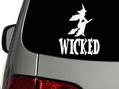 WICKED WITCH Halloween Vinyl Decal Car Wall Sticker CHOOSE SIZE COLOR