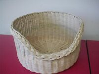 wicker cat or small dog basket