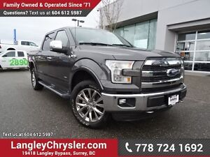 2016 Ford F-150 Lariat LOWS KMS w/ NAVIGATION, PANORAMIC SUNR...