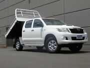 2012 Toyota Hilux KUN26R MY12 SR Double Cab White 5 Speed Manual Cab Chassis Maddington Gosnells Area Preview