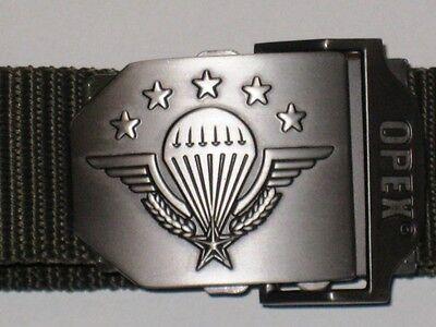 Fallschirmjäger, Parachutistes, Gürtel, Frankreich, schwarz, Schließe  mit Logoi