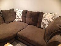 L Shape Brown Sofa