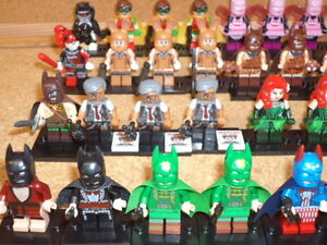 MINIFIGURES BATMAN LEGO MOVIE, STAR WARS, MARVEL, DC, SCOOBY DO