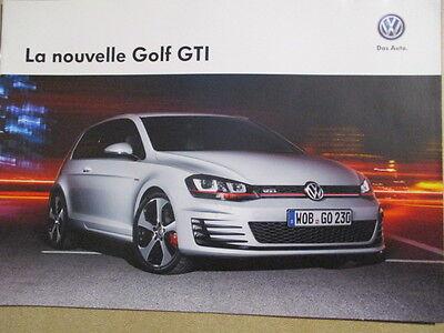 CATALOGUE AUTO : VW VOLKSWAGEN : LA NOUVELLE GOLF GTI 05/2013