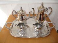 Silverplate Teapot/Coffee Set