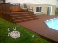 power wash and restain your deck