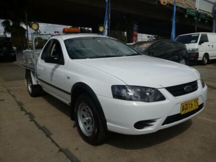 2008 Ford Falcon BF MkII RTV (LPG) White 4 Speed Auto Seq Sportshift Cab Chassis Holroyd Parramatta Area Preview