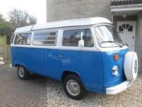 1972 VW WESTFALIA BAYWINDOW CLASSIC 4 BERTH POP TOP CAMPERVAN FOR SALE