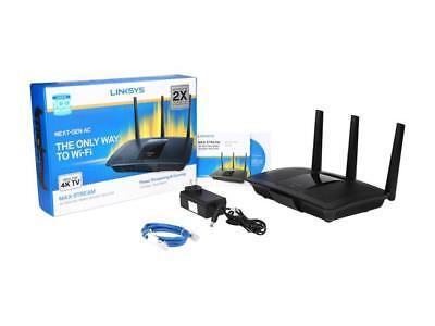 Linksys MAX-STREAM AC1900 Next Gen MU-MIMO Dual-Band Smart Wi-Fi Gigabit...