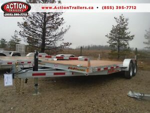 7000lb GVWR - 7X18' GALVANIZED CANADIAN BUILT CAR HAULER