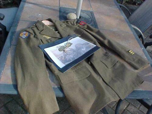 ORIGINAL WWII USAAF 10TH AF TUNIC / BULLION CBI PATCH / DOG TAGS ETC