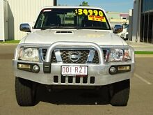 2011 Nissan Patrol GU 7 MY10 ST White 5 Speed Manual Wagon Garbutt Townsville City Preview