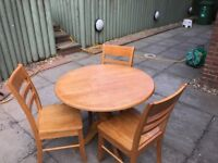 Table and 3 chairs - Quick Sale