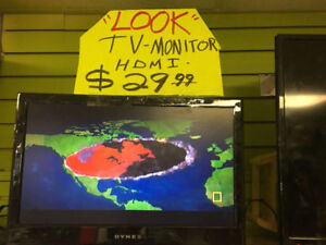 """21"""" FLAT-SCREEN TV & MONITOR WITH REMOTE"""