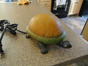 Art Glass Turtle Accent Indoor Table Lamp or Night Light