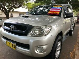2010 Toyota Hilux KUN26R 09 Upgrade SR (4x4) Silver 5 Speed Manual Cab Chassis