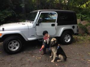 "JEEP TJ version ""Unlimited extended rare. Seulement 96,000km"