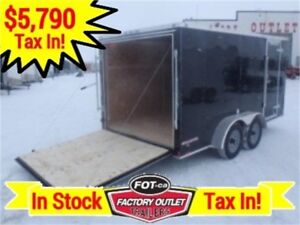 7 x 14 Cargo Trailer - HD Ramp Door >>---> $5,790 TAX IN PRICE!