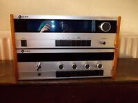 LEAK STEREO AMP 2100 AND TUNER 2300, VINTAGE STEREO EQUIPMENT