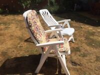 Reclining Garden Chairs with Cushions
