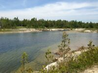 1.7 acres of waterfront land in the Northern Bruce Peninsula!