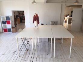 Fashion studio share, beautiful warehouse, Dalston, 2-3 days/wk, large cutting table
