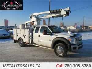 2012 Ford F-550 XLT Extended Cab Bucket Boom Truck Service Body