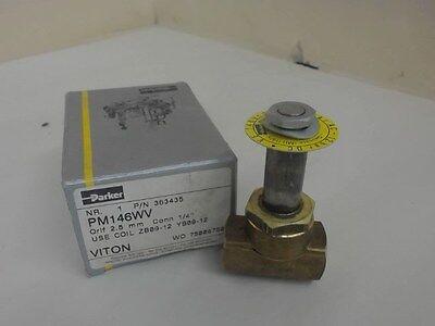 Parker Pm146wv Solenoid Valve 146v- 2 5- 15 Bar Ac 12 Bar Dc