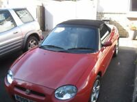 MG HARD TOP FOR MGF HEATED WINDOW (car sold) FITS ALL MODELS part x swap??