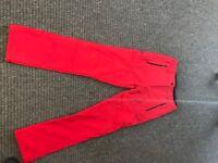 Waterproof and windproof ski/hiking trousers