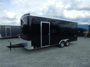 2018 20'X8.5' WIDE ENCLOSED SIDE X SIDE TRAILER 9990LB ROUND TOP