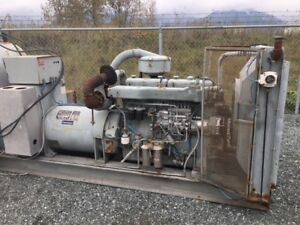 150KW Generator, Scania turbo diesel, Kato gen end, 1800hrs on u