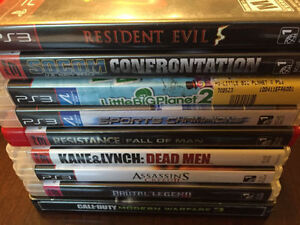 29 PS3 VIDEO GAMES, ASSASSINS CREED, CALL OF DUTY, MLB, NHL ETC.