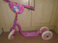 BARBIE girls pink scooter in good condition