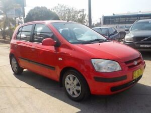 2004 Hyundai Getz TB MY04 GL Red 5 Speed Manual Hatchback North St Marys Penrith Area Preview