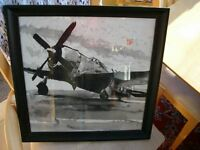 republic p47 thunderbolt original ink and wash picture in frame