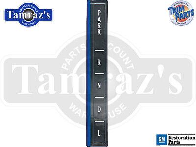 Console Indicator Shift Plate - 66-67 Malibu Console Indicator Shift Plate Lens PRNDL USA MADE NEW