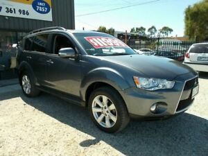 2011 Mitsubishi Outlander ZH MY12 XLS Green 6 Speed Constant Variable Wagon Bayswater North Maroondah Area Preview