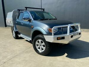 2007 Mitsubishi Triton ML MY07 GLX-R Utility Double Cab 4dr Man 5sp 4x4 1010kg 3.2D Grey Manual Villawood Bankstown Area Preview
