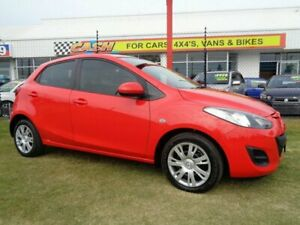2011 Mazda 2 DE10Y1 MY10 Neo Red 5 Speed Manual Hatchback Kippa-ring Redcliffe Area Preview