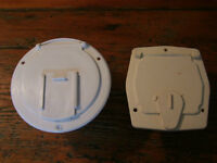 2- RV CAMPER POWER CORD HATCH/COVERS WHITE-BRAND NEW