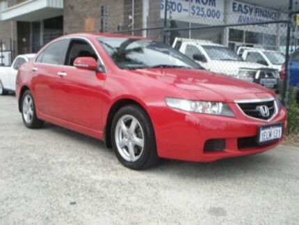 2005 Honda Accord MY05 Upgrade Euro Burgundy 6 Speed Manual Sedan Wangara Wanneroo Area Preview