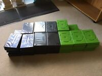 DVD cases (empty) x 72 black and x 45 green