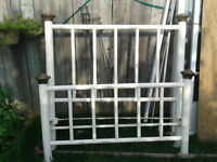 circa 1800s CAST IRON BED MADE BY ART BED CO. best offer