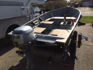 Aluminum Boat Motor and Trailer Package