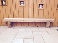 Custom Handmade Railway Sleeper Benches